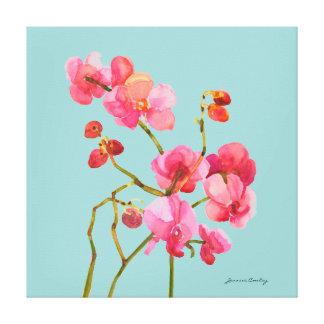 Pink Watercolor Blossoms Canvas Canvas Prints