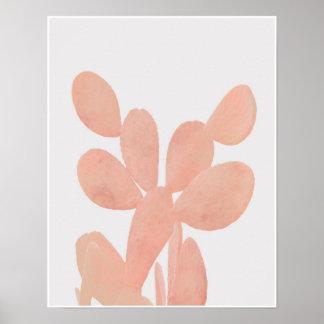 Pink Watercolor Cactus Poster