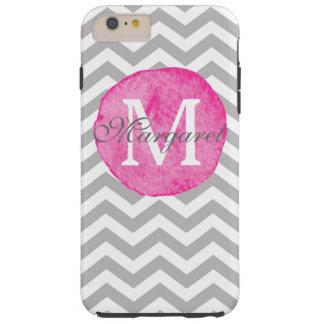 Pink Watercolor Chevron Personalize iPhone 6s Plus Tough iPhone 6 Plus Case