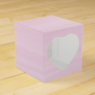 Pink Watercolor Favor Box