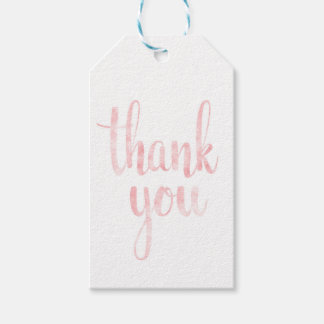 Pink watercolor favour tags