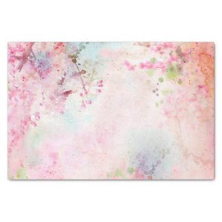 Pink Watercolor Floral Tissue Paper