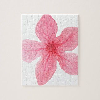 pink watercolor flower jigsaw puzzle