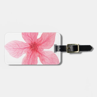 pink watercolor flower luggage tag