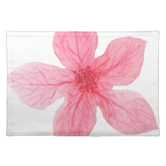 pink watercolor flower placemat