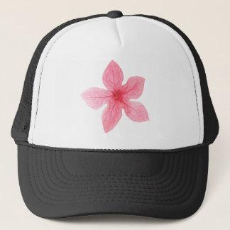 pink watercolor flower trucker hat