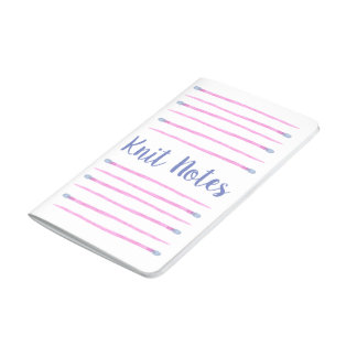 Pink Watercolor Knitting Needles Journal