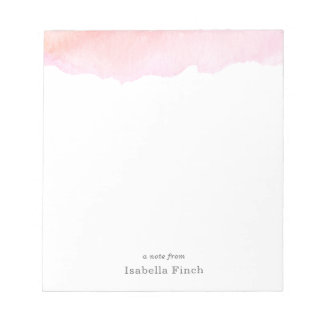 Pink Watercolor Notepad