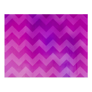 Pink Watercolor Ombre Chevron Postcard