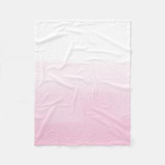 Pink Watercolor Ombre Fleece Blanket