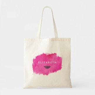 Pink Watercolor Paint Splatter Tote Bag