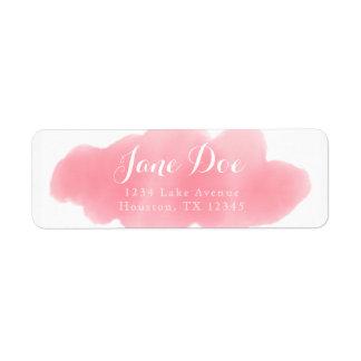 Pink Watercolor Return Label Return Address Label