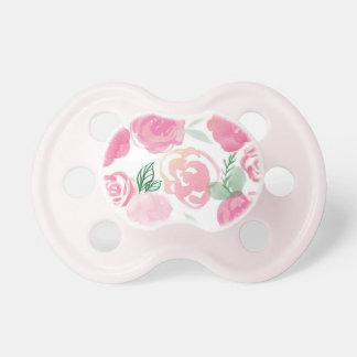 Pink Watercolor Roses Binkie Pacifier fooler