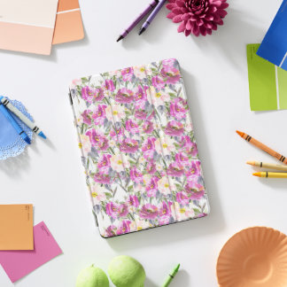 Pink Watercolor Roses iPad Pro Cover