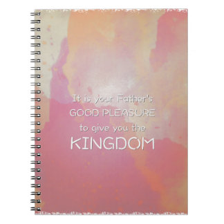 Pink Watercolor Scripture Notebook