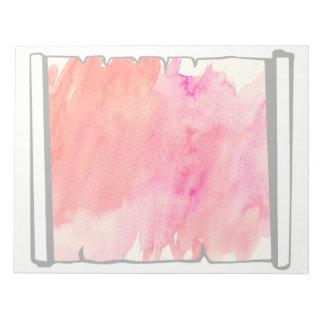 Pink Watercolor Scroll Scrapbooking Fun Notepad