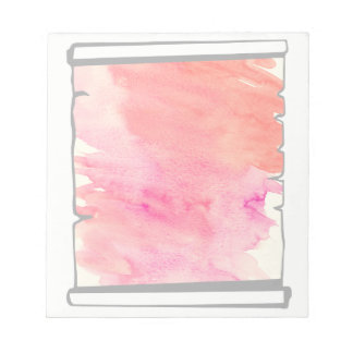 Pink Watercolor Scroll Scrapbooking Fun Notepad