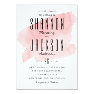 Shop Zazzle's selection of watercolour wedding invitations for your special day!