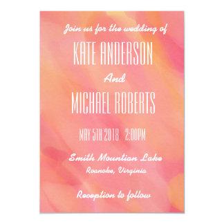 Pink Watercolor Wedding Invitation