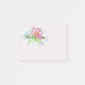 Pink Watercolor Wild Rose Mini Floral Bouquet TY Post-it Notes