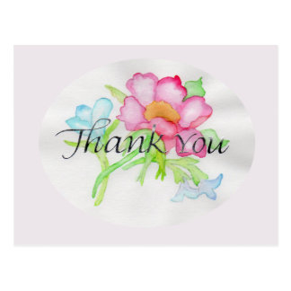 Pink Watercolor Wild Rose Mini Floral Bouquet TY Postcard
