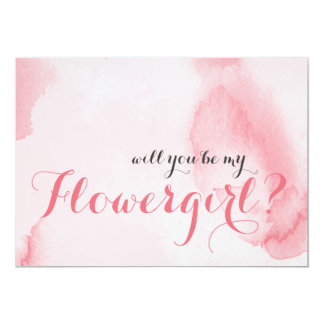 Pink Watercolor | Will you be my Flowergirl Card