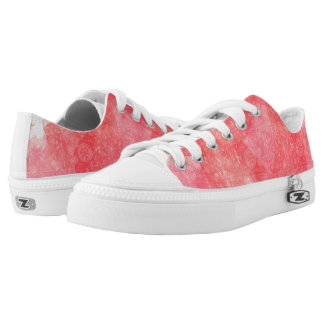 Pink watercolour fantasy design low tops