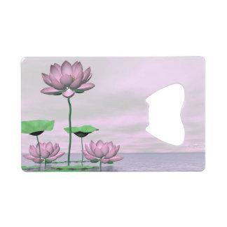 Pink waterlilies and lotus flowers - 3D render