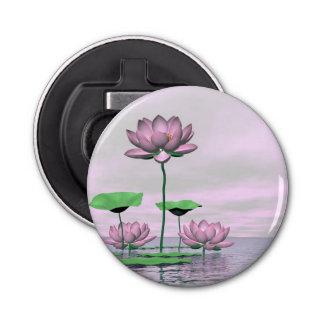 Pink waterlilies and lotus flowers - 3D render Bottle Opener