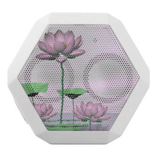 Pink waterlilies and lotus flowers - 3D render White Bluetooth Speaker
