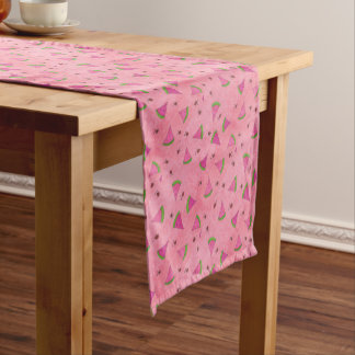 Pink Watermelon and Lady Bugs Short Table Runner