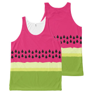 Pink Watermelon Slice All Over Print Tank Top All-Over Print Tank Top