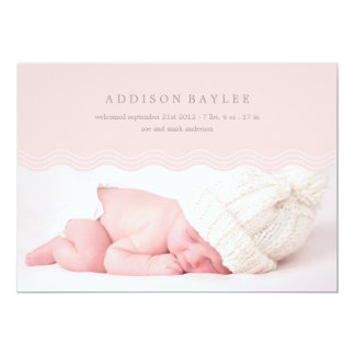 PINK WAVES | BIRTH ANNOUNCEMENT