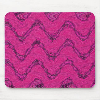 pink waves mouse pad