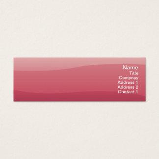 Pink Waves - Skinny Mini Business Card