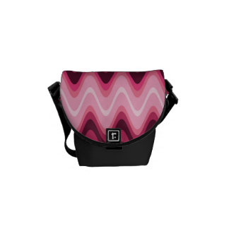 Pink Waves Small Bag Courier Bags