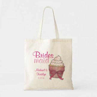 Pink Wedding Cupcake Bridesmaid Tote