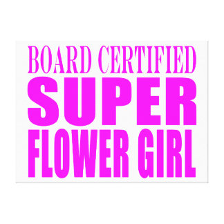 Pink Wedding Favors Thanks Super Flower Girl Canvas Prints