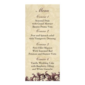 pink  Wedding menu Custom Rack Cards