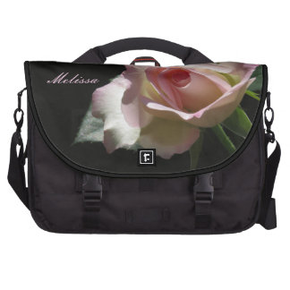 Pink Wedding Rose Laptop Computer Bag