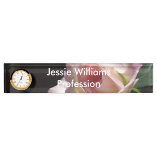 Pink Wedding Rose Nameplate