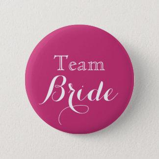 Pink Wedding Team Bride 6 Cm Round Badge
