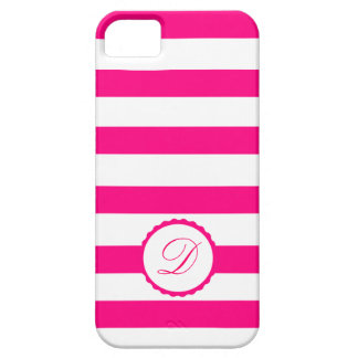 Pink Weis touched mono gram personalizes iPhone 5 Covers