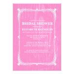 Pink Western Barn Wood Bridal Shower Invitations Invitation