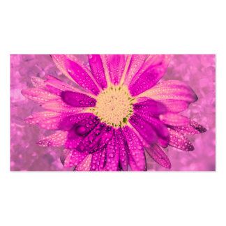 pink wet flower business cards