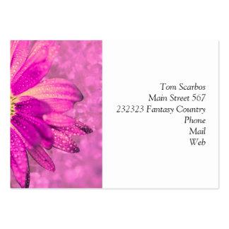 pink wet flower business card templates
