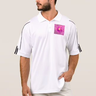 pink wet flower polo shirts