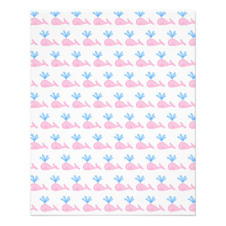 Pink Whale Pattern Flyers