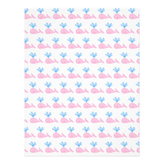 Pink Whale Pattern. Custom Flyer
