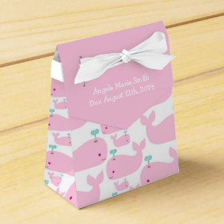 Pink Whale Theme Baby Shower Favour Boxes